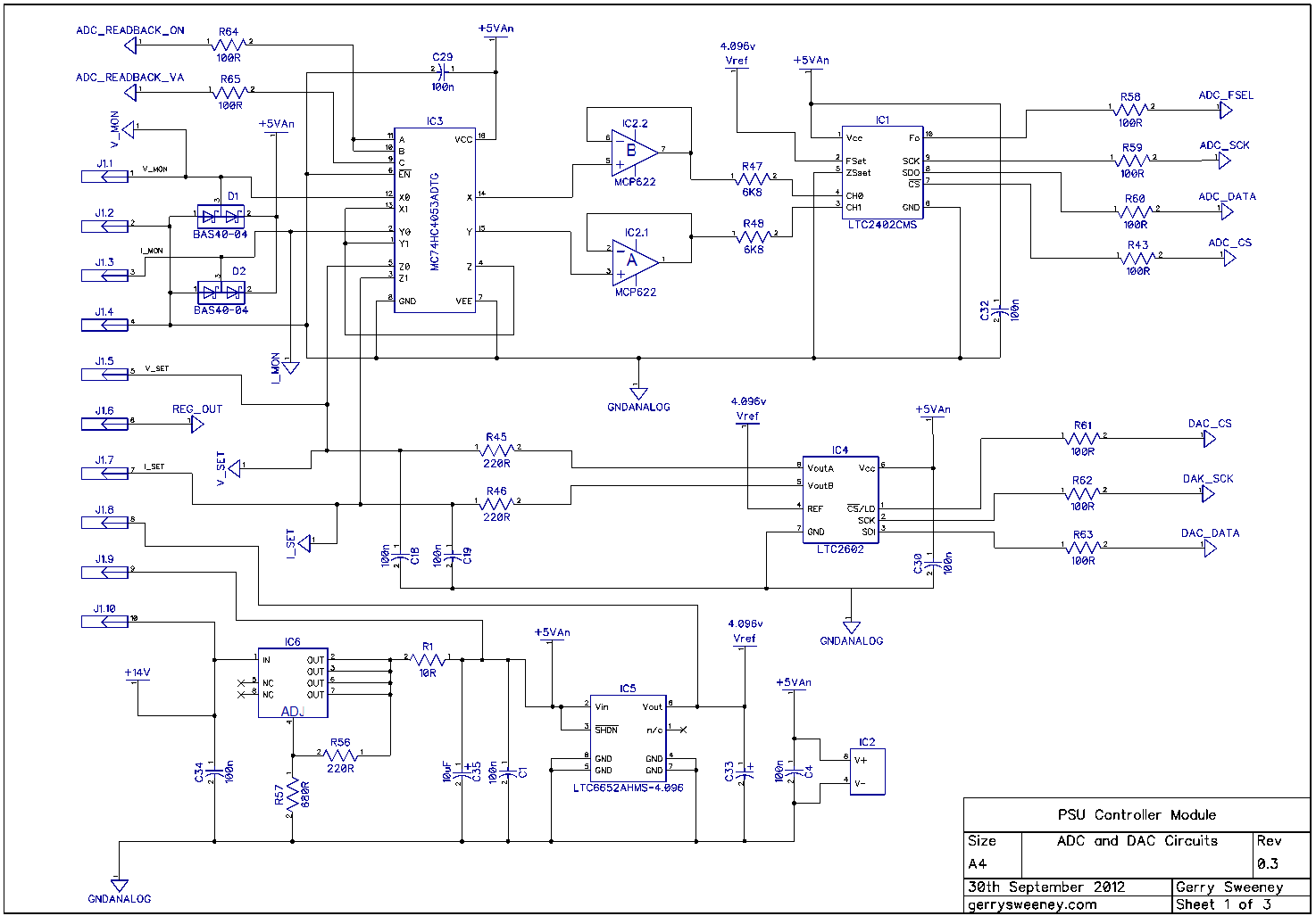 Fully Programmable Modular Bench Power Supply Part 10 5v Regulated With Overvoltage Protection Schematic