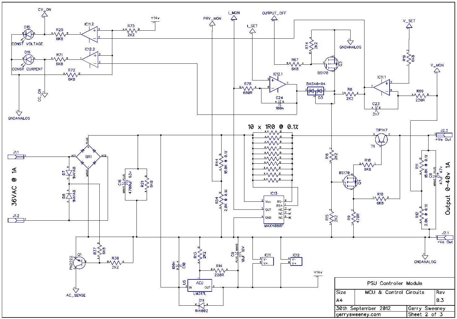 January 2013 Volt Power Supply Schematic Fully Programmable Modular Bench Part 10