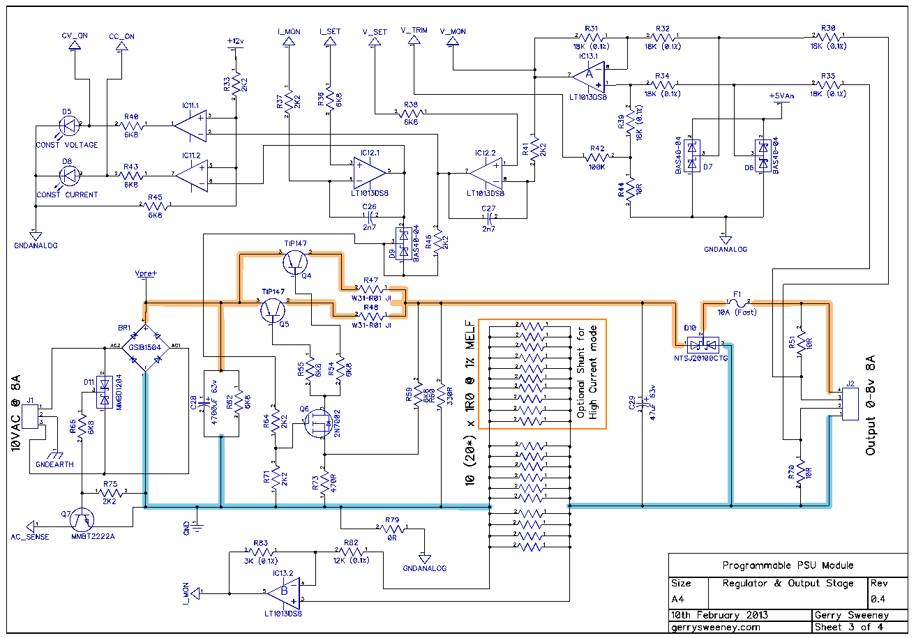 Fully Programmable Modular Bench Power Supply Part 11 How To Build 5v Regulated Circuit Diagram
